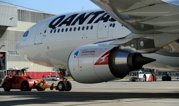 A Qantas A330 was forced to return to Perth. Picture: Greg Wood/AFP via Getty Images