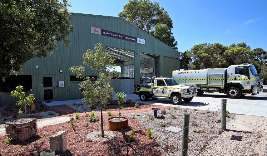 The new $1.1 million Jandakot Volunteer Bush Fire Brigade Station in Banjup. Picture: David Baylis.