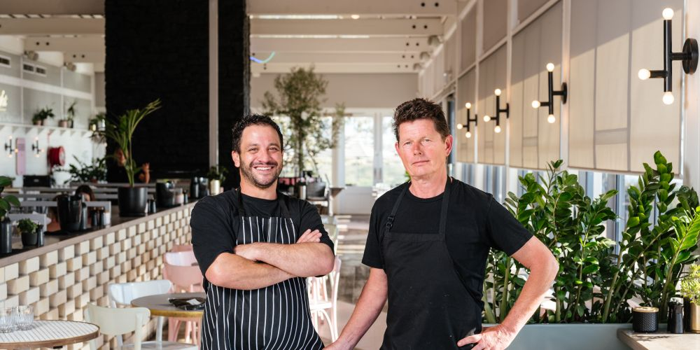 Kailis Fremantle head chef Peter Manifis and Island Market culinary director David Coomer.