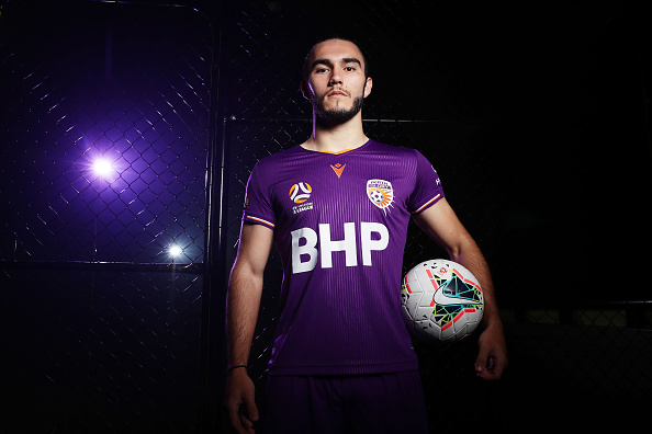 Nicholas D'Agostino of the Perth Glory poses during the A-League 2019-20 A-League season launch. Picture: Matt King/Getty Images