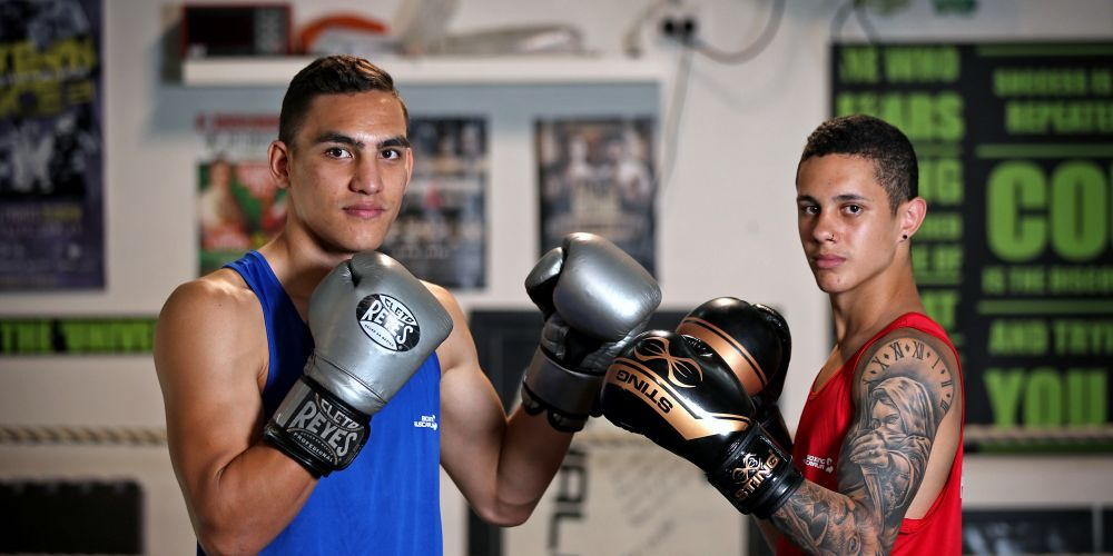 Kirra Ruston (21) and Charlie Senior (18) at Lacey's Gym in Currambine. Pictures: David Baylis www.communitypix.com.au d497875
