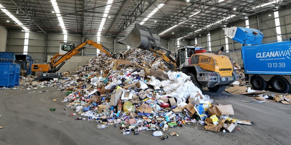 Some recycling material has been diverted to landfill following the fire at Cleanaway's South Guildford facility in November. File picture: David Baylis