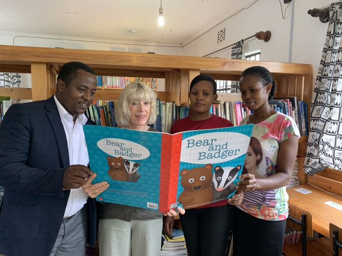 Kim McHugh (second from left) with Jifundishe staff Elibahati Nnko, Lizybeth Julius and Rena Michael in Tanzania. Pictures supplied