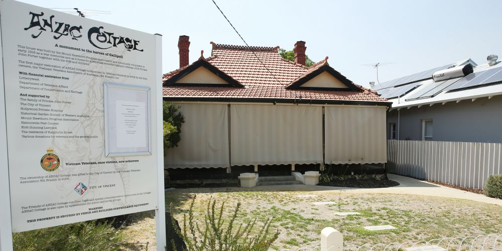 Anzac Cottage Mt Hawthorn. Picture: Andrew Ritchie.