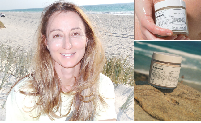 City Beach entrepreneur Mindy Bonomelli has launched two new Such Skincare clay bum masks. Pictures: Supplied