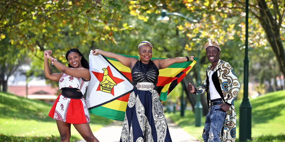 Performers L-R: Ann-Marie Eshinapwora of Bentley (A member of SAKATAFIT DANCE), Mucha Lauti of Willetton and Cozzy Kozile Ck of Butler.  The Organisation of African Communities in WA is holding the annual Jambo Africa Festival at Stirling Civic Gardens on February 29.