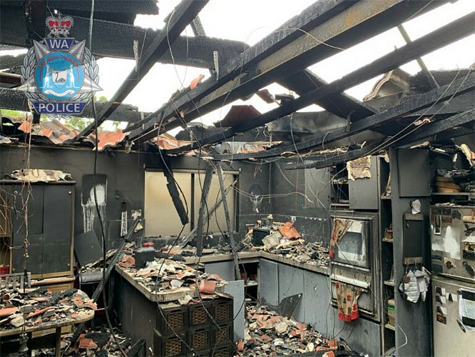 Police hunt arsonist over house fire