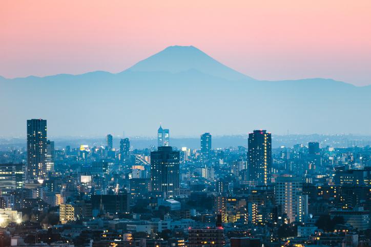 Mt Fuji overlooking Tokyo. Photo: Getty