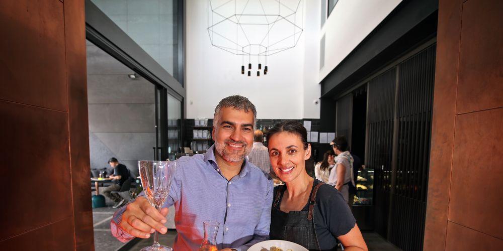 David and Alexia Serra (Co-owners, Casa Nostra Caffe). Picture: David Baylis