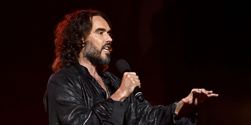 Russell Brand cancels his Perth gig. Photo by Lester Cohen/Getty Images for The Recording Academy