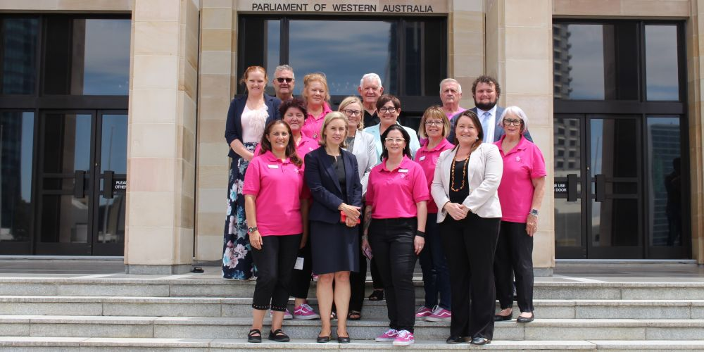 Share the Dignity volunteers with State MPs. Picture supplied