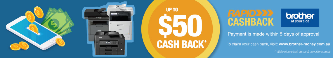 Rapid Cashback Offer on Brother Printers!