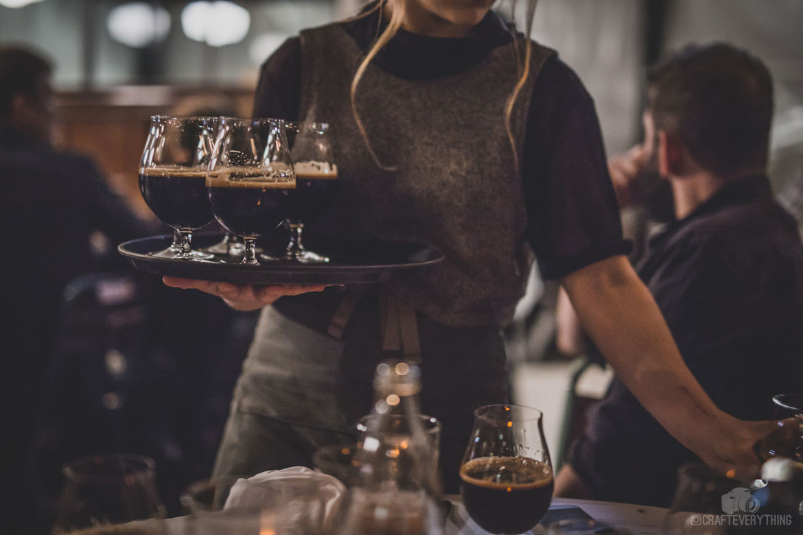 Clout Stout being served at Good Beer Week's Mega Dega – credit Andrew Smith of Craft Everything