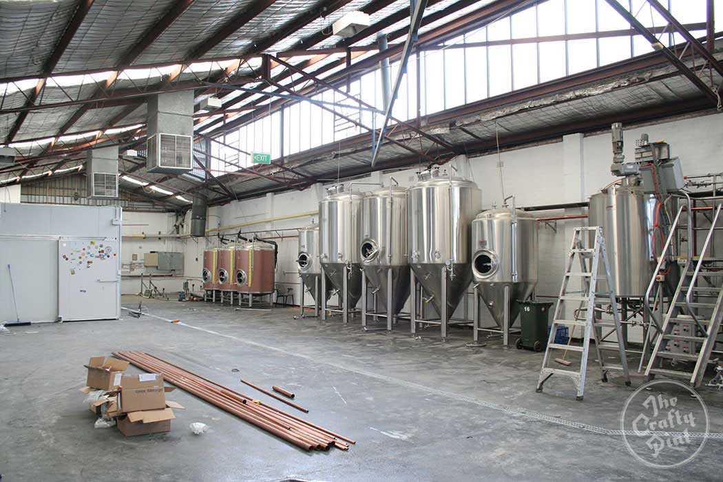 Grifter Brewing Company's new brewery space