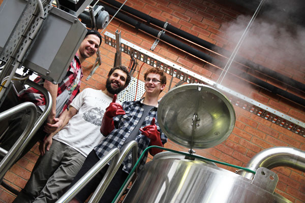 Grifter Brewing Company during one of their first ever brew days at Young Henrys