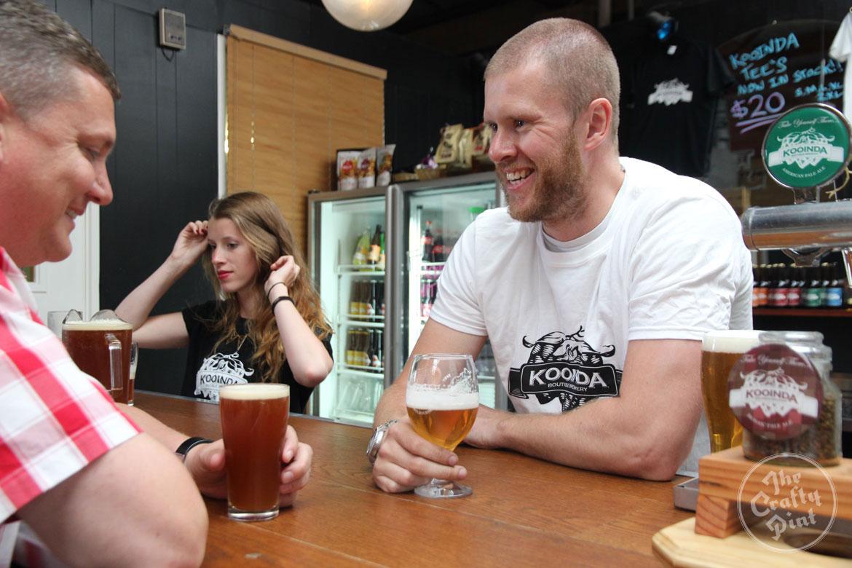 Brian Hardie at Kooinda Boutique Brewery