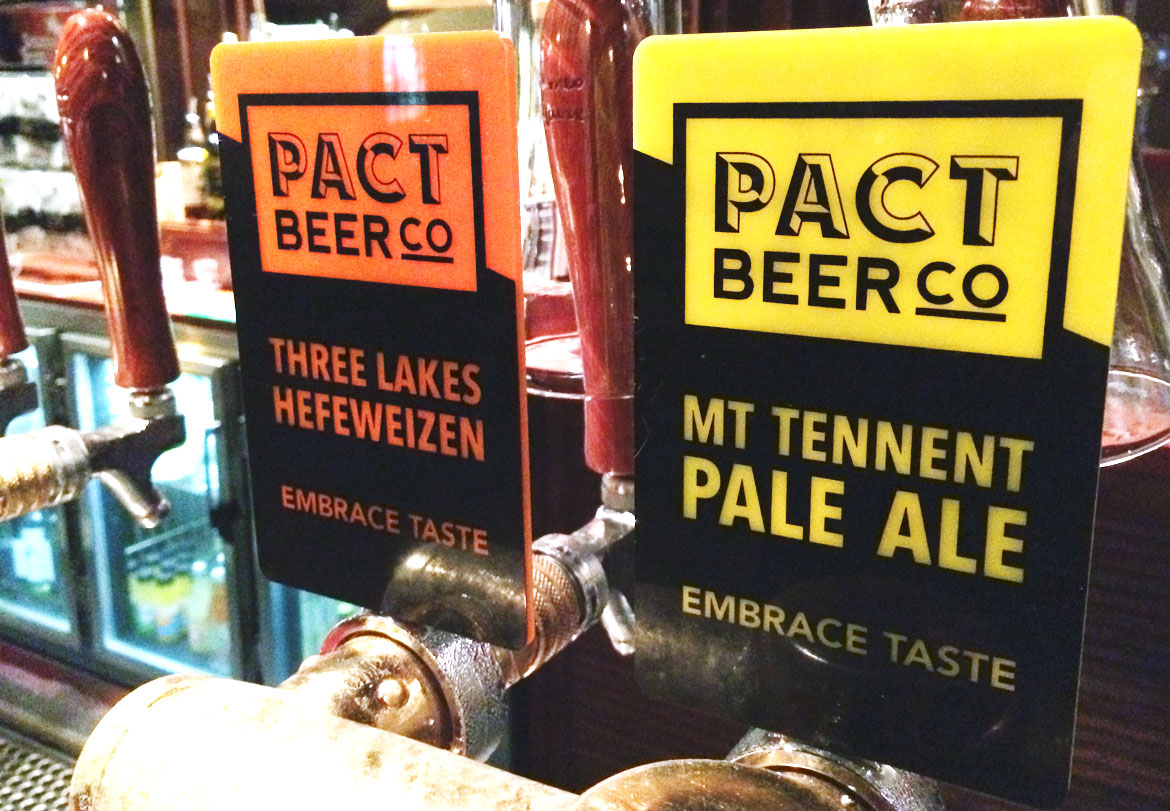 Pact Beer taps