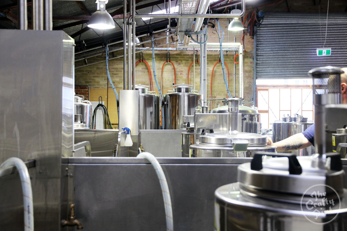 The view across the breweries at The Public Brewery in Croydon