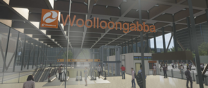 Slide 5 of 5 - Concept image of the Woolloongabba Station Concourse