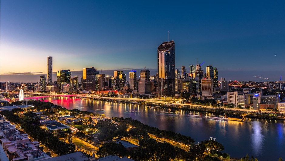 Image of Brisbane CBD at sunset