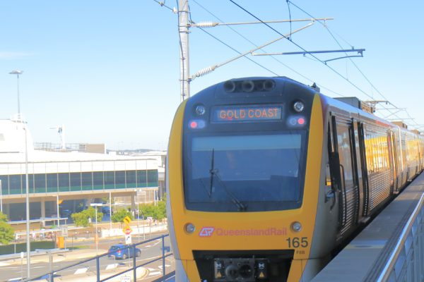 A QR train heading for the Gold Coast