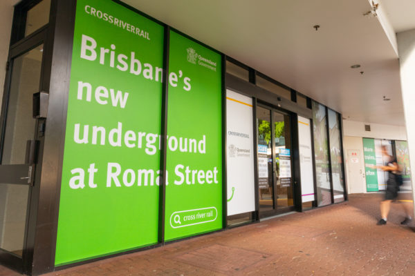 Signage installed at the Brisbane Transit Centre