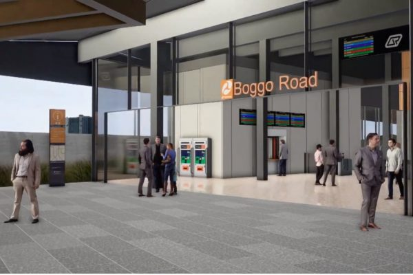 Boggo Road station construction update - Dec to Jan 2020