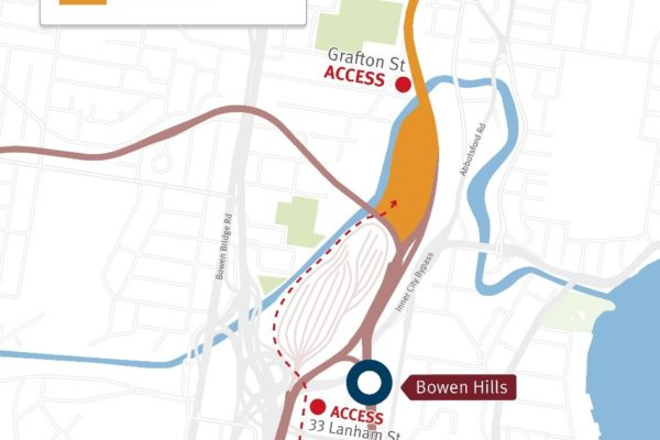Start of construction between Bowen Hills and Albion stations