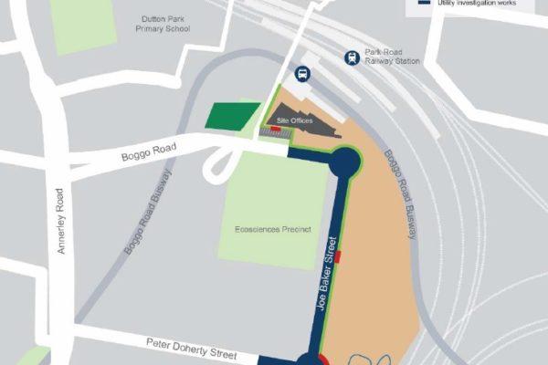 Boggo Road station construction update - November 2019