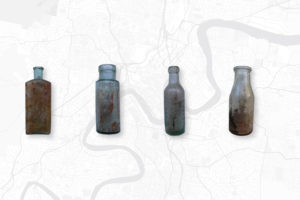 Slide 6 of 6 - <strong>Glass Bottles</strong> - local chemists and Bengal Chutney