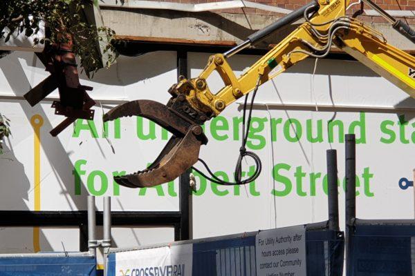 Demolition works at Albert Street