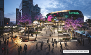 Slide 4 of 4 - Brisbane Live new public plaza -  Concept only, not final or approved