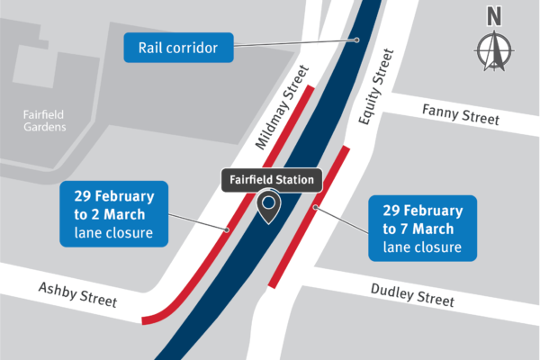 Fairfield station works and temporary traffic changes