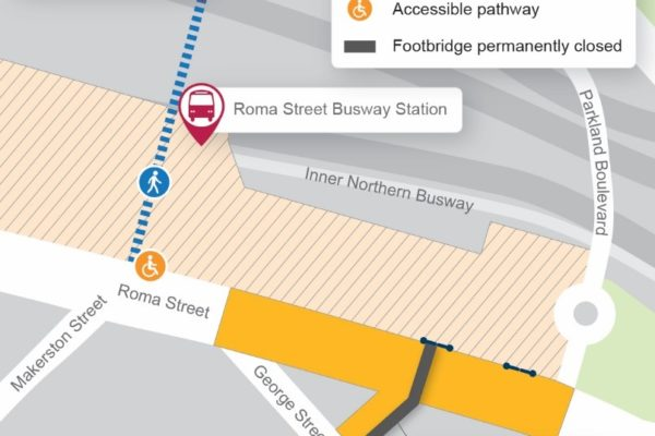 Changes to the intersection of Roma and Herschel streets