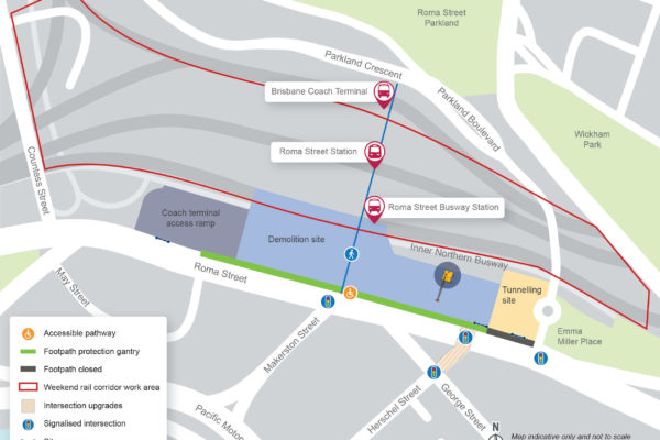 Roma Street station construction update - April 2020