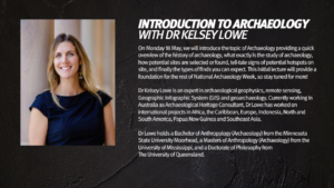Slide 1 of 10 - Introduction to Archaeology with Dr Kelsey Lowe