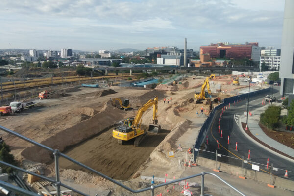 Boggo Road station construction update - July 2020