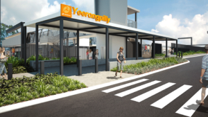 Slide 3 of 3 - Exterior view of Yeerongpilly station - concept image only, not final or for build