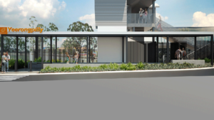 Slide 2 of 3 - Exterior view of Yeerongpilly station - concept image only, not final or for build