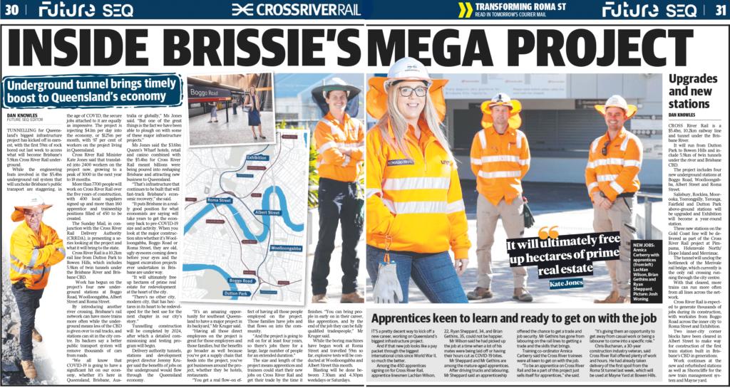 Newspaper article titles Brissie's Mega Project