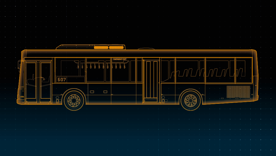 a stylised image of a bus.