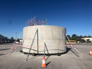 Slide 4 of 5 - Concrete test ring onsite at Wacol