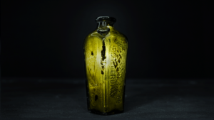 Slide 10 of 16 - <strong>Miniature Dutch case gin bottle </strong> <br> embossed with the name 'A van Hoboken & Co., Rotterdam'