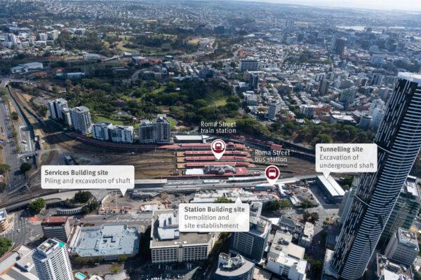 Roma Street station construction update - November 2020