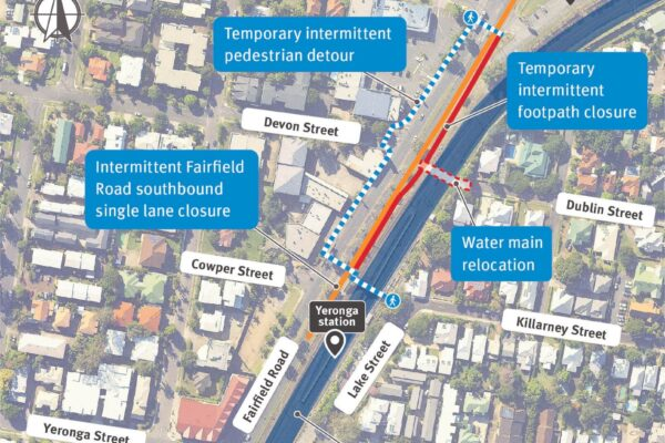 Construction update Fairfield to Yeronga stations