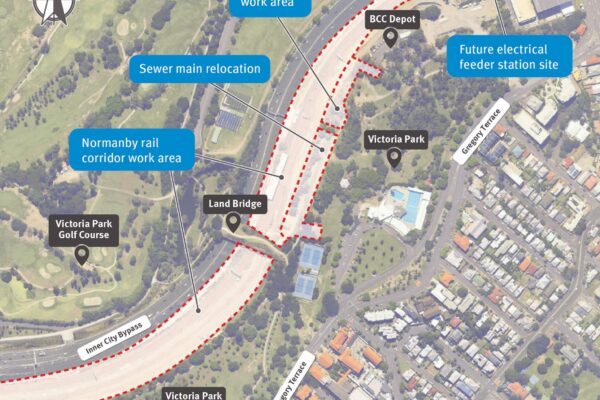 Construction update Normanby rail corridor and Victoria Park