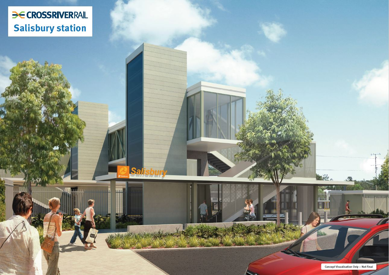 a render of the proposed upgrade to Salisbury station