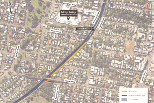 Fairfield station construction update - July 2021