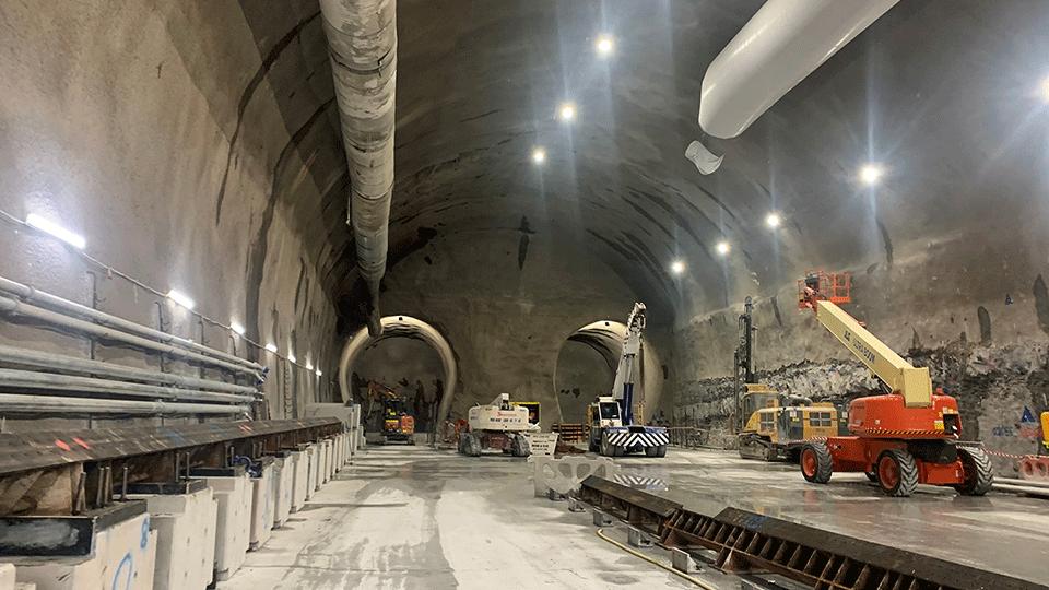 Woolloongabba station cavern - December 2020
