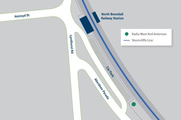 Map of North Boondall radio mast site.